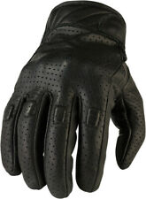 Z1R Men's 270 Perforated Leather Motorcycle Riding Gloves (Black) L (Large)