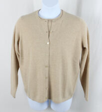 Saks Fifth Avenue NWT Oatmeal Cashmere Shirt Cardigan Sweater Twinset 1X