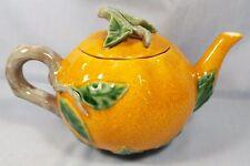 "Williams Sonoma Pumpkin Teapot ~ 5-1/2"""