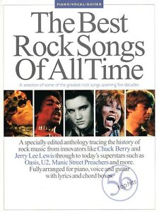 """""""THE BEST ROCK SONGS OF ALL TIME"""" HAL LEONARD EUROPE [MUSIC SONG BOOK]"""