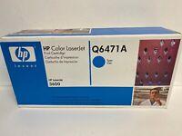 Genuine HP Q6471A Cyan Toner Cartridge NEW SEALED