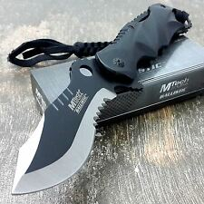 """8"""" M-TECH SPRING ASSISTED OPEN Blade Tactical FOLDING POCKET KNIFE Bowie Rescue"""