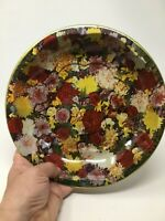 Vintage Daher Decorated Ware Metal Round Bowl Made in England