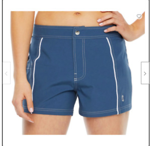 Free Country Women's Swim Shorts in Small and Medium Color: Slate & White