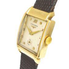 Longines 9ct Gold Herren Armbanduhr aus den 1930er Jahren ART DECO DESIGN !