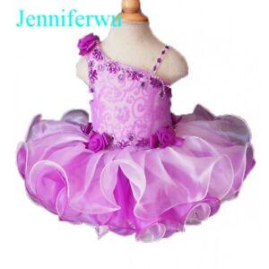 Infant/toddler/kids/baby/children Girl's Glitz Pageant Dress 1-6T G108