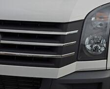 Rejilla FRONTAL CROMADO acento TRIM Juego Cubiertas para encajar Volkswagen Crafter (2012-16)