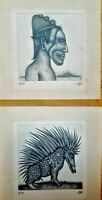 Chalcography by Gerald Steffe. Untitled, n/d. Original Signed.