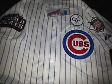 BRAND Gray Chicago Cubs Majestic #44 Anthony Rizzo Dual Patch Sewn Jersey 2xl