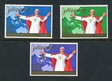 Philippines 1080-1081,C99,MNH.Michel 946-948. Visit of Pope Paul VI,1970.Map.
