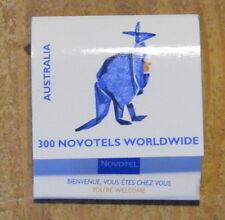 Pochette d'allumettes complète Novotel Australia, années 1970-1980