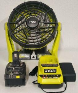 Ryobi P3320 18V ONE + HYBRID PORTABLE FAN + PBP005 4.0Ah BATTERY PCG002 Charger
