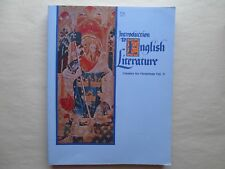 INTRODUCTION TO ENGLISH LITERATURE by Jan Anderson & Laurel Hicks 1982 Paperback