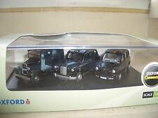 Oxford 76SET09 SET 09 3 x London Taxis TaxiCabs Cabs FX TX & AT Black