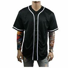 Blank Black Baseball Jersey Team Mens T-Shirt Uniform Sports Raglan Fashion