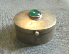 925 Silver (Sterling) Box Faux Stone Accent Vintage TU-62