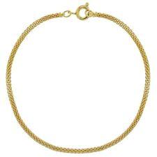 """18k Gold Plated Thin Mesh Tube Chain Women Bracelet 7.5"""""""