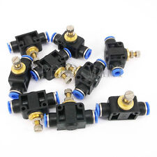 10pcs 6mm Pneumatic Air Valve Flow Speed Controller Throttle Push In One Touch