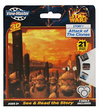STAR WARS View Master ATTACK OF THE CLONES 3 Reel Set 3D ADVENTURES Story 1