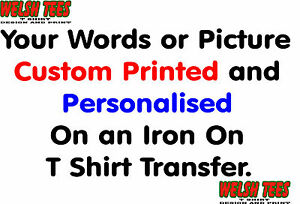 PERSONALISED HEN STAG A5 T SHIRT TRANSFER YOUR DESIGN / PICTURE AND WORDS