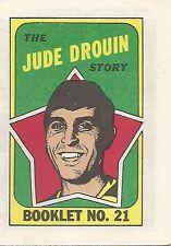 O-PEE-CHEE HOCKEY MINI COMIC BOOKLET 21 JUDE DROUIN 1971 TOPPS