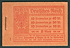 GERMANY, 1921, Complete Booklet (Michel MH14), VF
