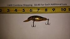 Bomber Plastic Smilin Minnow Fishing Lure 3 1/8 inches long