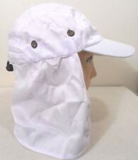 NECK COVER FLAP SUN PROTECTION HAT WHITE FISHING HUNTING HIKING