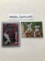 Yordan Alvarez 2020 Topps Chrome Lot, Pink Refractor RC Rookie Debut & U7 Astros