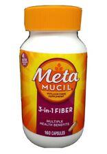 Metamucil 3-in-1 Fiber Supplement Multiple Health Benefits 160 Caps. FRESH #5115