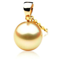 Pacific Pearls® New 11mm Australian Golden South Sea Pearl Pendant Gifts For Mom