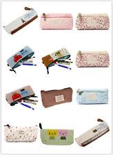 Cartoon Student Pen Pencil Case Portable Pouch Makeup Bag Storage