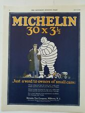 1920 Michelin man tire company Milltown NJ owners of a small cars vintage ad