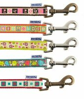 Dog Leads Ancol ,Teal Monsters , Lime Flowers, Orange, Chocolate, Claret Square