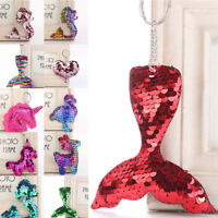SEQUIN Mermaid Keychain Keyring Handbag Bag Charm Girl Party Gift Key Chain DIY