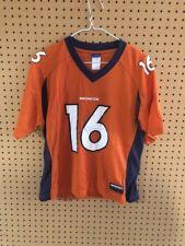 Vintage Denver Broncos Jake Plummer Orange Jersey Youth Large Reebok NFL #16