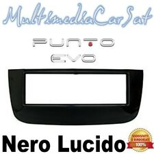 Mascherina Autoradio Fiat Punto Evo 2005- Nera Lucida Nero Grande Punto 3452
