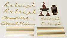 Raleigh 1970s Grand Prix Bicycle Decal Set - Gold (Sku Rale-S103)