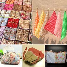 50Pcs Cotton Fabric Bundle Patchwork Quilting Sewing Crafts Scrapbook 10x10cm AS