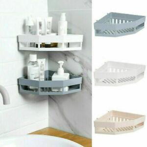 Bathroom Corner Caddy Shower Suction Wall Shelf Tidy Storage Basket Kitchen Rack