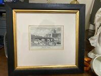 "Framed & Matted Print ""The Law Courts"" 1821 Picture Of Dublin By George Petrie"