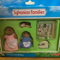 Sylvanian Families Sewing With Mother Mole Doll Vintage Calico Critters W/Box