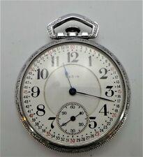 Watch - c1920 - Spares Or Repair Antique Elgin - B.W.Raymond 19J Railway Pocket