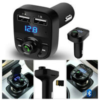 Wireless Bluetooth Handsfree Car Kit FM Transmitter MP3 Players Dual USB Charger