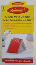 Clothes Moth Detector Aerona Non-Toxic & Odourless Glue Trap - 1 Pack of 1 Trap