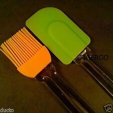 TIGERGO | SILICONE BRUSH & SPATULA | Kitchen & BBQ Tool | Apply Oil Butter |2 PC