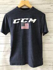 new concept c727e dc047 Men s CCM Blue American Flag Short Sleeve T-Shirt~Small