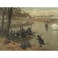 Thulstrup Battle Fredericksburg American Civil War Large Canvas Wall Art Print