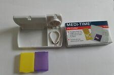 Meditime Excelente Tablet/Divisor de la píldora Cortador más el almacenamiento de información 1st classpostage