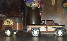 Buddy L Truck and Horse Trailer Vintage Pressed Steel Toy